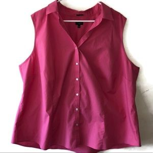 TALBOTS WRINKLE RESISTANT sleeveless button up